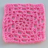 Fuzzy Pink Baby Afghan Square - This Baby Afghan Square Is Crocheted Using the V-Stitch Granny Square Pattern. As Shown, It Would Be Great for Making a Girl's Baby Blanket. This Versatile Pattern Could Be Crocheted in a Variety of Other Yarns.