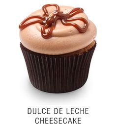 Georgetown Cupcake | DC Cupcakes | Menu | Dulce de Leche cheesecake topped with a ducle de leche frosting and dulce de leche star drizzle