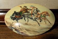 Russian Hand Painted Brooch Signed And Dated Pedockuho  Poccusi 98