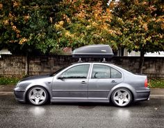 Slammed Daily Driver. #jetta #vdub #lowered #3SDM #005 #thule #mkivjetta #vwlife #coilovers #poke #stretch #vw