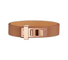 Mini Dog Simple Tour Bracelet in Swift calfskin with pink gold-plated hardware Wrist size approx. 15.5 cm