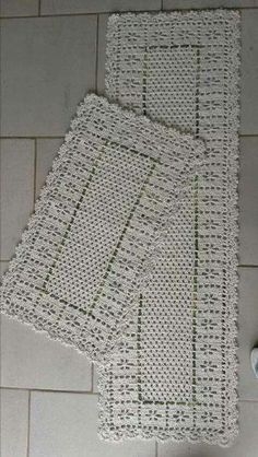 25 Ideas crochet decoracion home curtain patterns Crochet Doily Rug, Crochet Placemats, Crochet Table Runner, Crochet Home, Thread Crochet, Love Crochet, Beautiful Crochet, Knit Crochet, Crochet Curtains