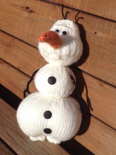 """Olaf from """"Frozen"""" – Knitting Pattern 