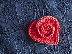 Crochet Rosy Heart - Tutorial ❥ 4U // hf