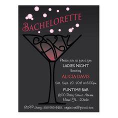 Bachelorette party invitation postcard - postcard post card postcards unique diy cyo customize personalize