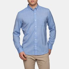 Wool and Prince Better Button Down: A travel-friendly merino wool dress shirt that will never wrinkle.