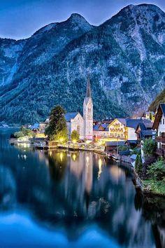 Hallstatt, Austria   #Hallstatt   #Austria #travel   #amazing   #amazingphotos   #architecture   #europe   #european   #building   #unesco   #placestovisit   #amazingplaces