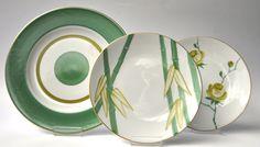 Marie Dâage Porcelaine de Limoges Collections: Bouquets, Indochine, Milleroues Vert flamboyant/Vert olive