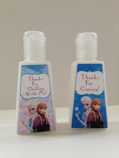 Disney Frozen Pocket Sized Lotion Favors  disney by CreatedToParty, $15.00. Thanks for CHILLING with me