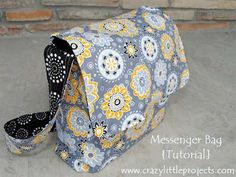 Free Bag Pattern and Tutorial - Messenger Bag