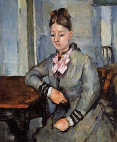 Paul Cézanne - Madame Cezanne Leaning on a Table