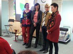 Marit, Gudrun, Linda en Felice