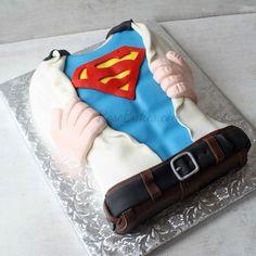 Superman Tearing Open His Shirt Cake - Rose Bakes
