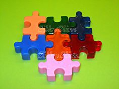 Handmade for kids Puzzle Soap Set Gift Birthday by SoapSilkySlim