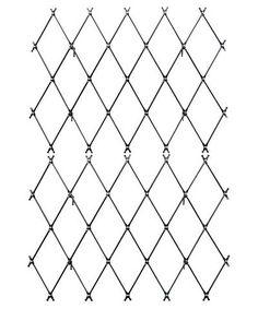 Jakob 60 in. W x 96 in. H Diamond Pattern Wire Trellis