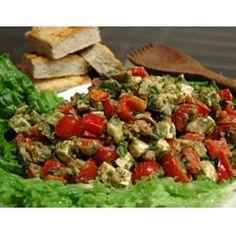 Feta Cheese with Basil Salad Allrecipes.com