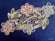 MACRAME 'ROMANIAN - POINT LACE: Pastel colors