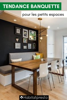 Bench Seating Kitchen Table, Kitchen Benches, Dining Nook, Corner Seating, Dining Room Design, Dining Room Furniture, Kitchen Dining Rooms, Bench Seat Dining Room, Wall Dining Table