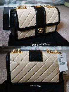 8a7a2ebb8cf9 NIB Chanel Nude/Beige and Black Lambskin Flap Bag New with Tag $4400.0  Burberry Handbags