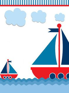 barcos Nautical Wedding Invitations, Baby Invitations, Sailor Baby Showers, Baby Boy Shower, Scrapbook Bebe, Nautical Party, Baby Boy Birthday, Baby Album, Templates Printable Free