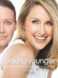 Robert Jones' tips are very practical and accessible.  Looking Younger, a follow-up to Robert Jones' successful Makeup Makeovers and Makeup Makeovers: Weddings, provides unique techniques for taking the years off and looking stunning at any age. Readers learn how to expertly cover and camouflage wrinkles, sagging eyelids, and dull skintones while practical and easy tips help them customize their makeup application to play up their best features and minimize their worst.