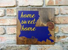 LSU Sign Home Sweet Home by CraftsNCarpentry on Etsy    #LSU #Louisiana #home #homesweethome #etsy #geauxtigers @etsy #craftsncarpentry