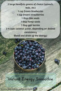 Top 5 Tips for Instant Energy {plus recipe} #health #fatigue #energy…