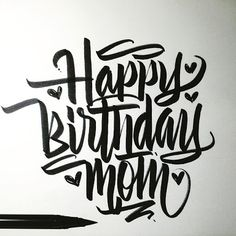 Are you looking for inspiration for happy birthday wishes?Browse around this website for unique happy birthday inspiration.May the this special day bring you happy memories. Calligraphy Birthday Card, Happy Birthday Hand Lettering, Happy Birthday Font, Mom Birthday Quotes, Happy Birthday Sister, Happy Birthday Images, Birthday Logo, 70th Birthday, Funny Birthday