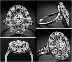 Edwardian diamond dinner ring at Jewels, Jewellery, Dinner, Glitters, Rings, Diamonds, Wedding, Antiques, Dining