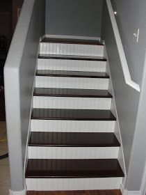 For Instant Beauty... add Elbow Grease: Those Pesky OSB Stairs- A DIY for removing carpeting from and finishing stairs.