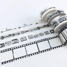 Camera Washi Tape Skeleton Key Washi Tape Arrows Hearts Washi Tape Camera Film Roll Washi Tape Patterns Washi Tape (3.25 USD) by iluvdesign