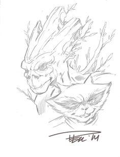 Paul Pelletier - Rocket Raccoon - Groot Comic Art