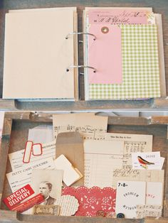 vintage paper ephemera journal / album / notebook por sweetpeaink