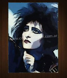 SIOUXSIE AND THE BANSHEES Siouxsie drawing 2 OIL-ACRYLIC ON CANVAS PAINTING  *Please see details at http://www.collectorware.com.ar/canvas-siouxsie.htm