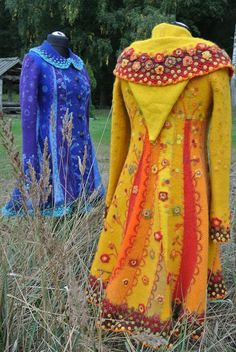 Boho Outfits, Casual Outfits, Coat Of Many Colors, Cool Coats, Fairy Clothes, Sweater Coats, Sweaters, Altered Couture, Mode Inspiration