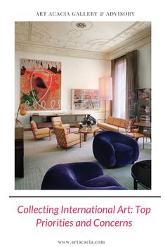 Vintage furnishings by a roster of design icons decorate a drawing room: Jean Royère seating and cocktail table; a Charlotte Perriand console; a Rispal floor lamp (left by door); and a Jean Prouvé shelf and table (on right). Fast Furniture, Vintage Furniture, Rooms Furniture, Furniture Design, Charlotte Perriand, Architectural Digest, Architectural Drawings, Sustainable Furniture, Vogue Living