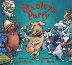 Stanley's Party- this Blue Spruce award winning book promotes reading enjoyment, as it is a fun, highly engaging and silly story that takes the perspective of a family pet. It could be used to support spelling and word study by choosing keywords from this book to be the focus of spelling. This could be done by writing responses to or continuations of this story, including key spelling words from the book.