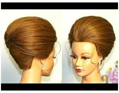 Read More About Updo tutorial. Elegant hairstyle for long medium hair. Up Dos For Medium Hair, Medium Long Hair, Medium Hair Styles, Long Hair Styles, Gothic Hairstyles, Elegant Hairstyles, Bun Hairstyles, 1970s Hair Tutorial, Updo Tutorial
