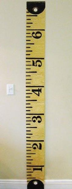 Buy or DIY: Oversized Ruler & Tape Measure Growth Charts