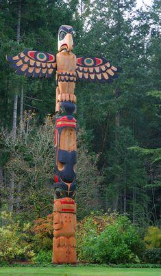Totem poles in Alaska.  Beautiful!