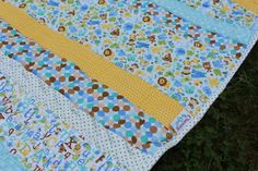 Baby quilt - longarm quilted