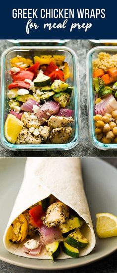 Chicken Wraps 2019 These Greek chicken wraps are perfect for meal prep! Prepped and cooked in under 30 minutes and makes four delicious healthy lunch options. The post Greek Chicken Wraps 2019 appeared first on Lunch Diy. Lunch Meal Prep, Healthy Meal Prep, Easy Healthy Recipes, Clean Eating Snacks, Healthy Eating, Healthy Food, Healthy Wraps, Healthy Chicken Wraps, Prepped Lunches