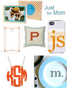 My picks for personalized gifts for Mother's Day #monograms