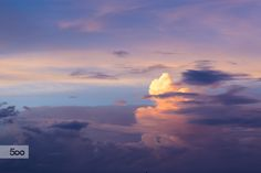 Photograph Beautiful cloudscape in tropical country by Roberto Machado Noa on 500px
