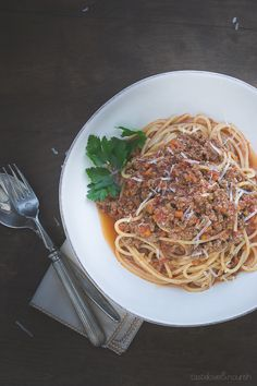 Bolognese Sauce - pure and authentic comfort food with a light twist | @tasteLUVnourish