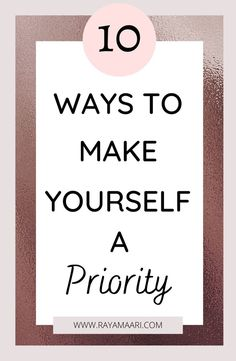There is a lot of talk about self-care on this blog, but the truth is that self-care begins with prioritizing yourself. There are a lot of benefits to making yourself a priority. On the other hand, if you ignore your needs and put the needs of others first, many problems can arise. self care tips | self love tips | self improvement tips | personal development tips | make yourself a priority | how to make yourself a priority | how to be happier | Confidence Building, Self Confidence, Make Yourself A Priority, Make It Yourself, Positive Thinking Tips, Love Tips, Transform Your Life, Self Improvement Tips, Prioritize