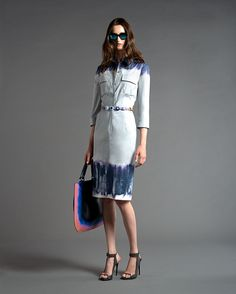 #Tie-dye prints #chemisier with Murano stones #belt     #Resort2013 #AlbertaFerretti   @CUTLER AND GROSS eyewear