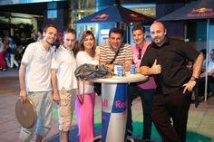 El equipo de Island Club, que se encargó de amenizar la zona de Urzáiz hasta la madrugada
