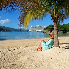gorgeous #islandfriend wearing our #seastar #tunic in paradise #cruising #vacation #islandsmiles #onelove #lovethebeach #caribbean #westindieswear