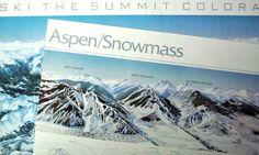 Pair of Vintage Colorado Ski Resort Map Posters by PoorLittleRobin